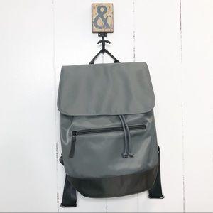 Barneys New York Gray Nylon Soft Backpack NWT
